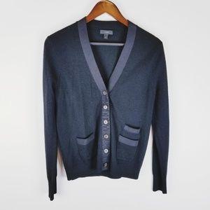 J Crew button down black cardigan sweater medium